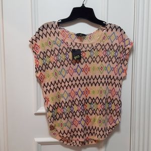 NWT pattern knit top